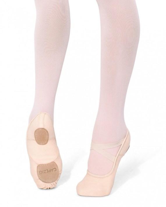 Balletschoentje canvas Hanami 4way strCapezio 2037W 2037C