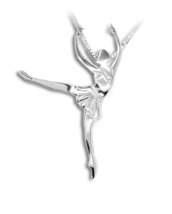 ballet-hanger-ballet-ketting zilver