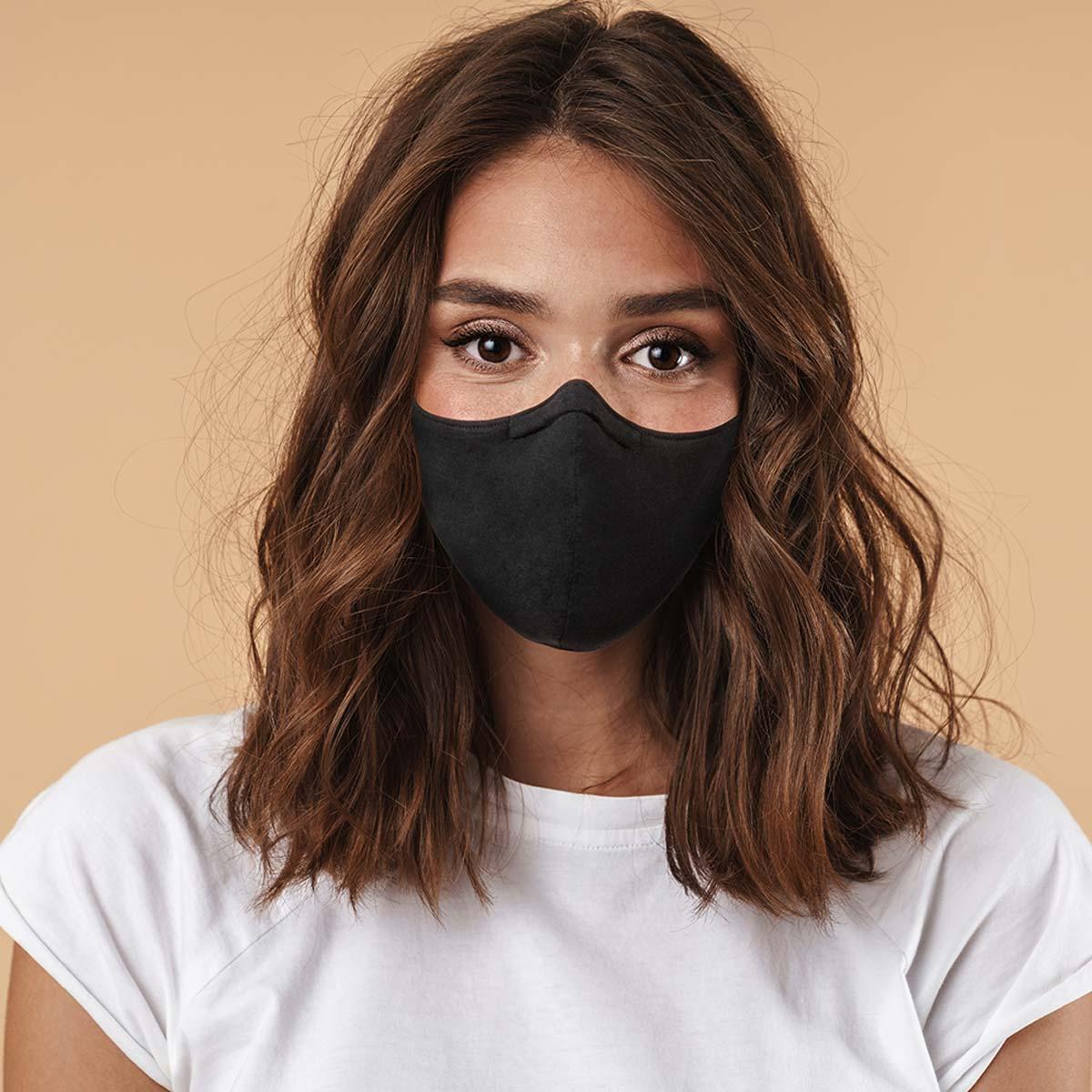 mondmasker zwart neusklip