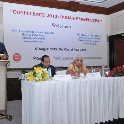 Dr. Kumar Rajan delivering a key note on Oral Public Health for Rural India at Confluence 2013:India's Perspective