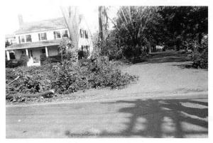 The Phillips House at 17 Holten Street after the 1938 hurricane.