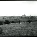 Glass plate image of the hospital from ca. 1880