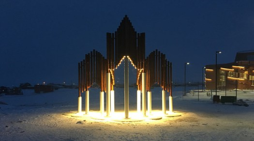 Polar Iconic Structure by Wei Yew. Photo credit: Government of Canada / CIRNA