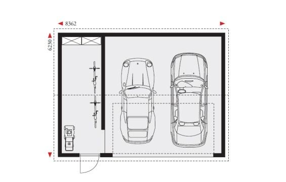 Doppelgarage mit abstellraum  Doppelgarage mit Satteldach und Abstellraum DG-STA | Danwood Bayreuth
