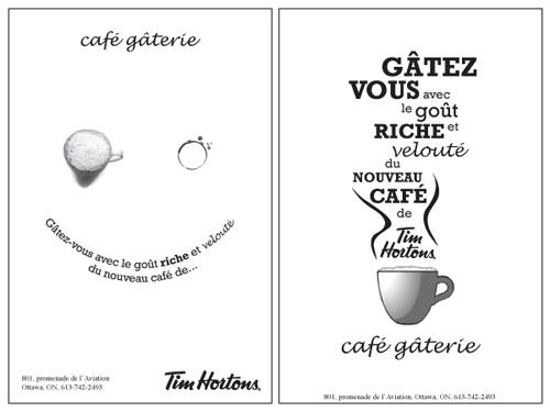 Tim Hortons newspaper ad