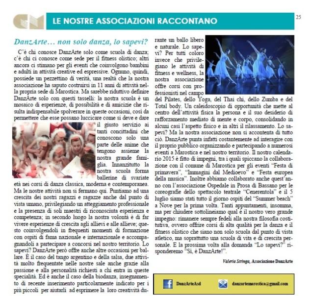 Cultura Marostica - articolo DanzArte