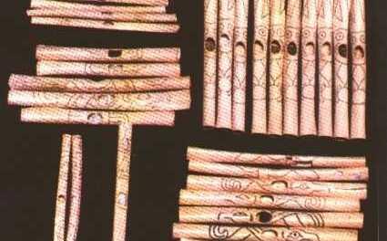 Aerófonos de Caral, Perú.