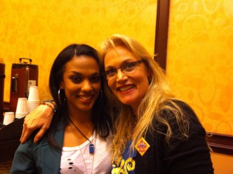 Gallifrey One 2013 - With Freema Agyeman