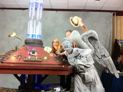 Gallifrey One 2013 - With a Weeping Angel - Amanda Winter