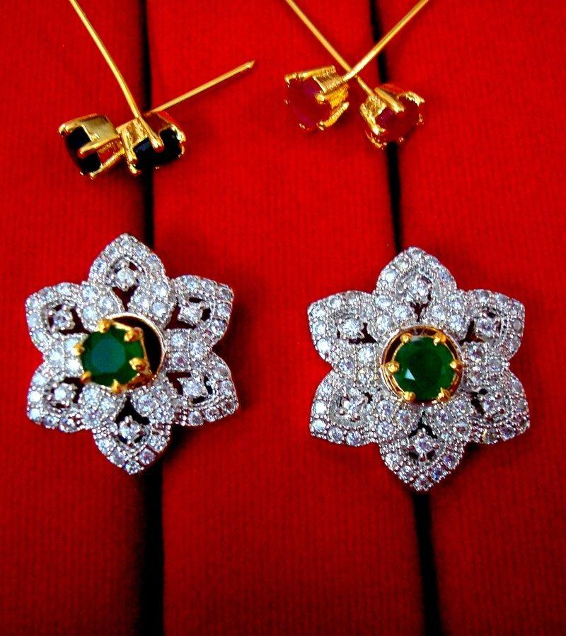 304c07cf0 Daphne 6 in 1 Changeable Zircon Flower Earrings for Women