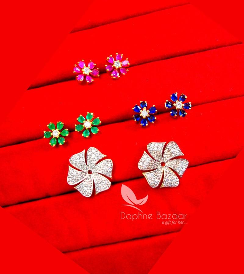 e99a2e12f CE36, Daphne Zircon Flower Six in One Changeale Earrings for Women - FRAME