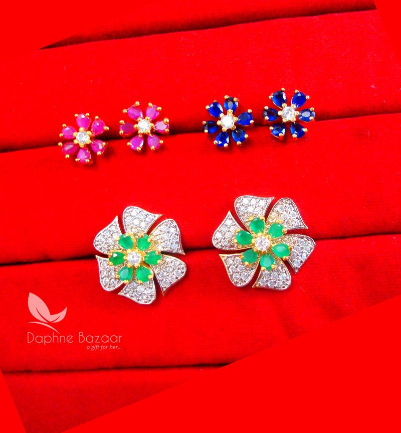 8551896e6 ... CE36, Daphne Zircon Flower Six in One Changeale Earrings for Women -  GREEN.jpg ...