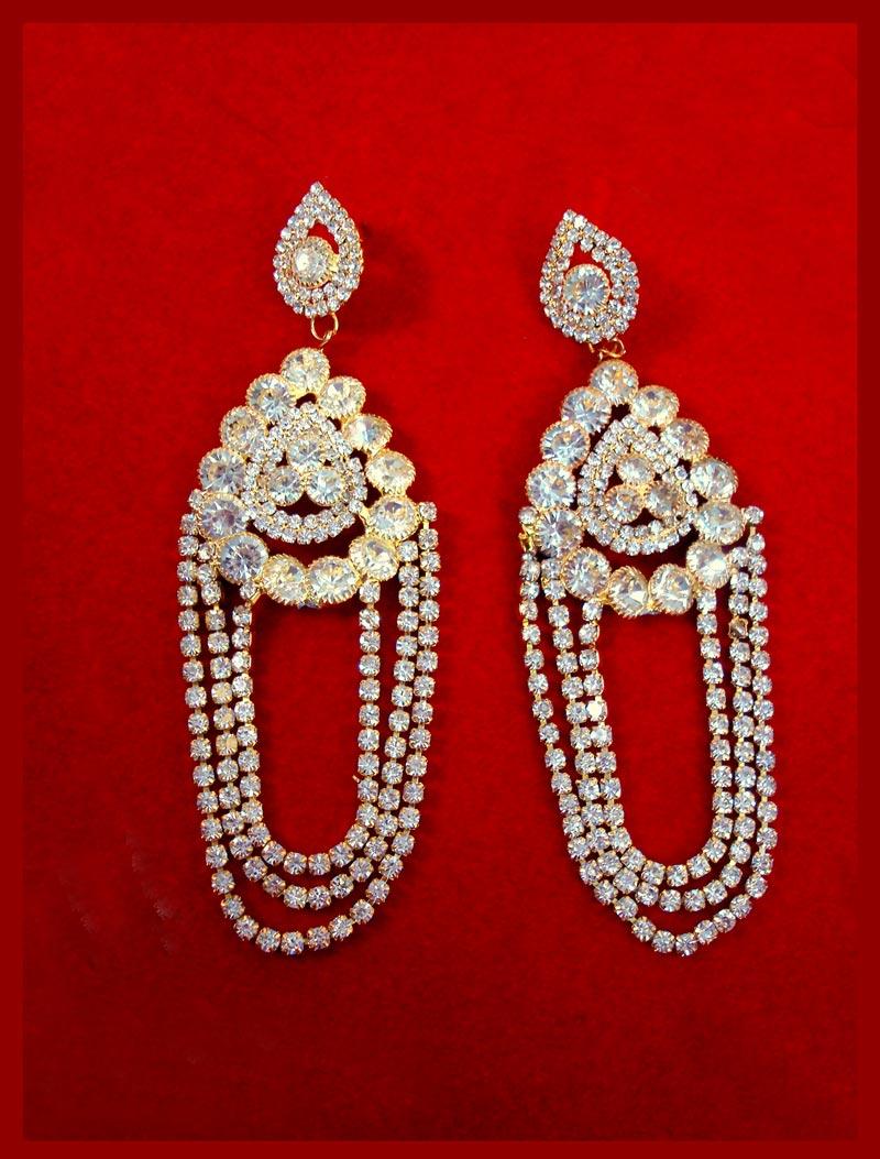 Ke94 daphne magnificent zircon chandelier earrings with kaan chain ke94 daphne magnificent zircon chandelier earrings with kaan chain for wedding events close up arubaitofo Choice Image