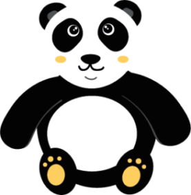 Panda Kawaii Orange