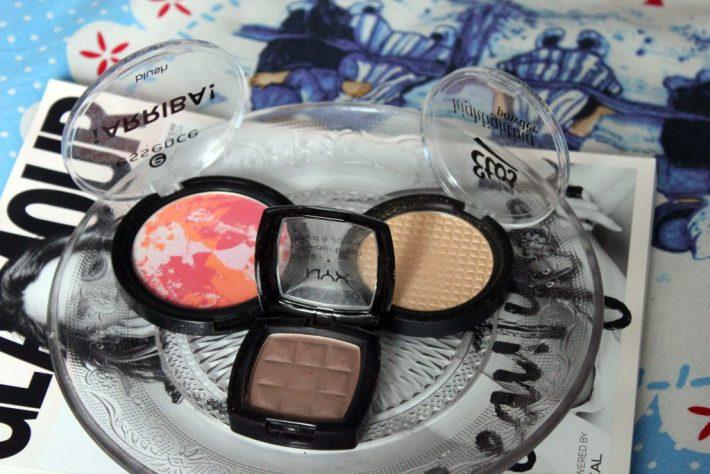 blush - bronzer - highlighter