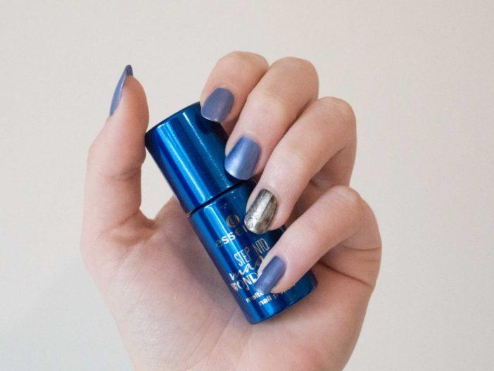 full nails chrome melted powder polish