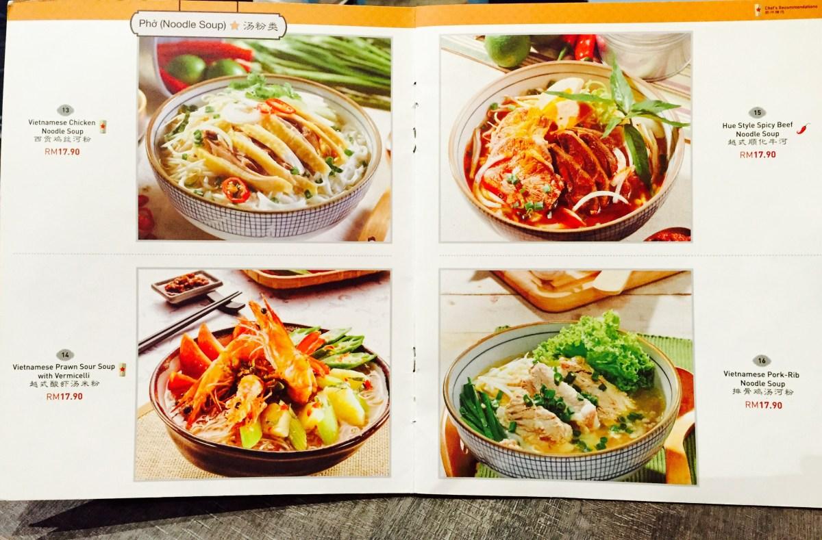 Pho Vietz menu 1