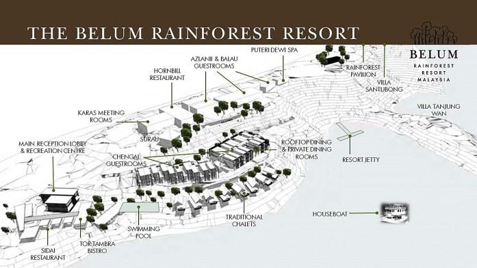 Belum Rainforest Resort site plan