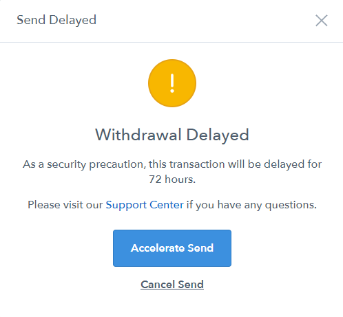 Coinbase-withdrawal-delayed