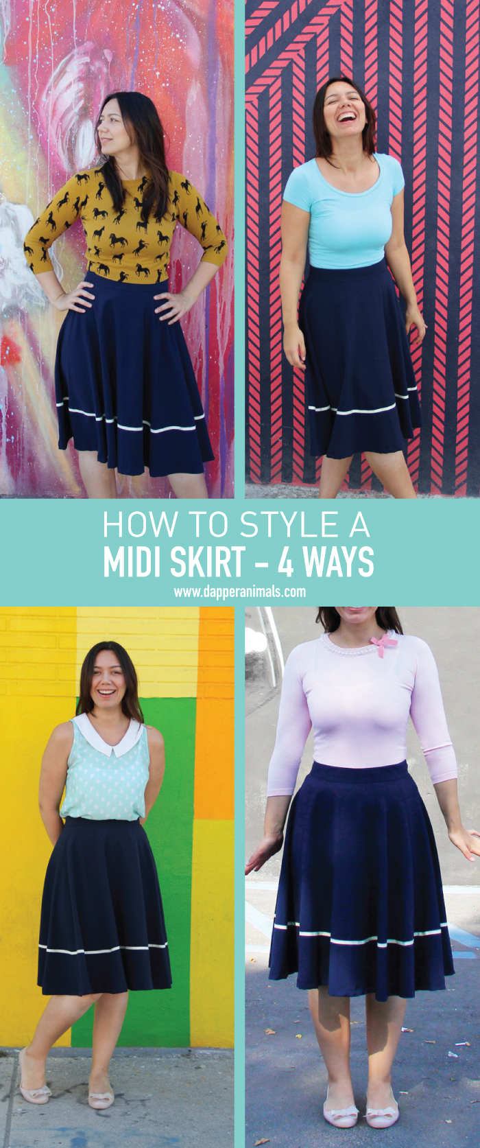 How To Style A Midi Skirt 4 Different Ways