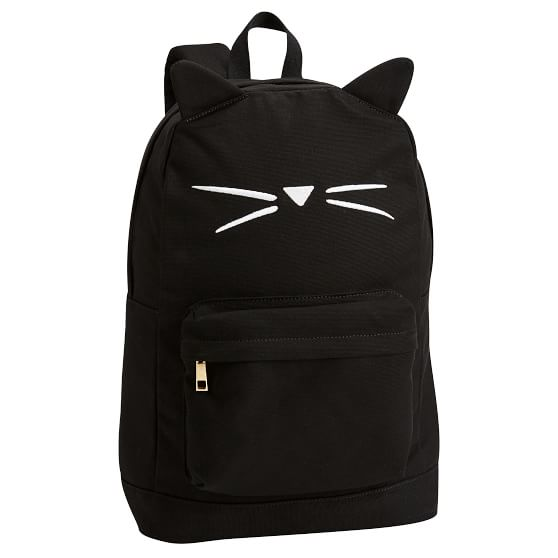 The cutest backpack ever. The Emily & Meritt cat shaped backpack from PB Teen