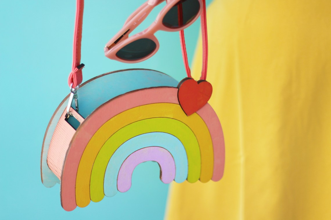 Cute Handmade Rainbow Purse by Dapper Animals