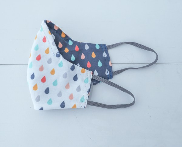 Raindrops Double Sided Reversible Face Mask