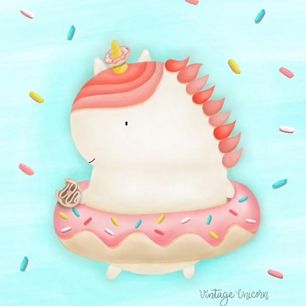 Donut Unicorn with Sprinkles Print