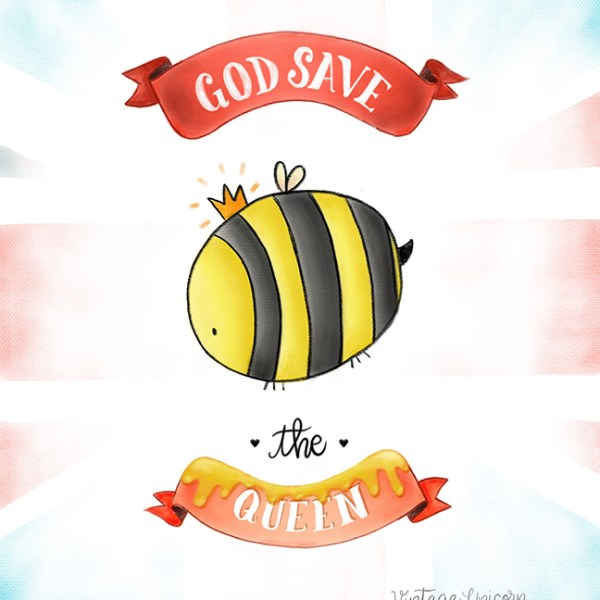 God Save the Queen Bee Print