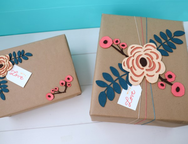Felt Flower Pattern to add detail to gift wrap