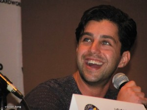 Josh Peck cracking up at his Q&A panel