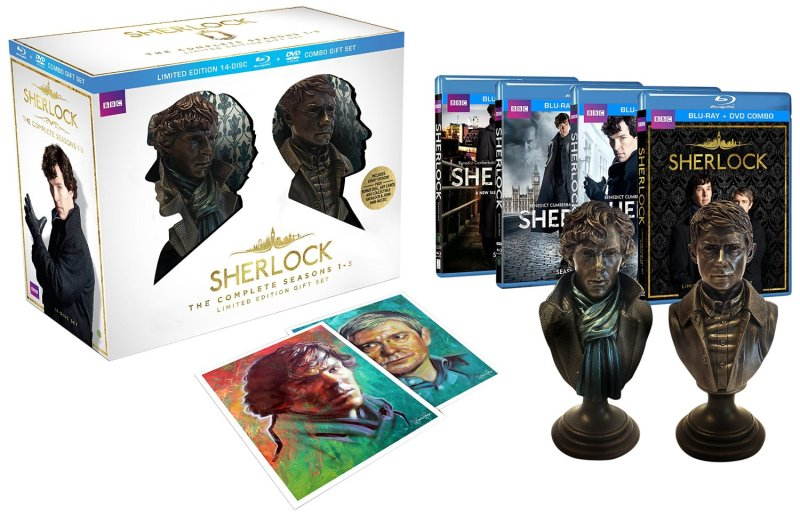 Sherlock Limited Edition Gift Set (The Complete Seasons 1-3 Blu-ray/DVD Combo)