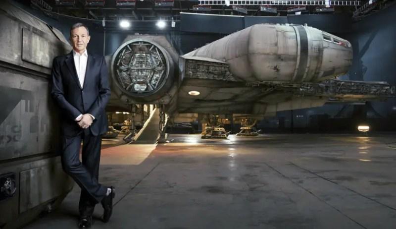 Bob Iger and the Millennium Falcon - Photo taken for Fortune Magazine