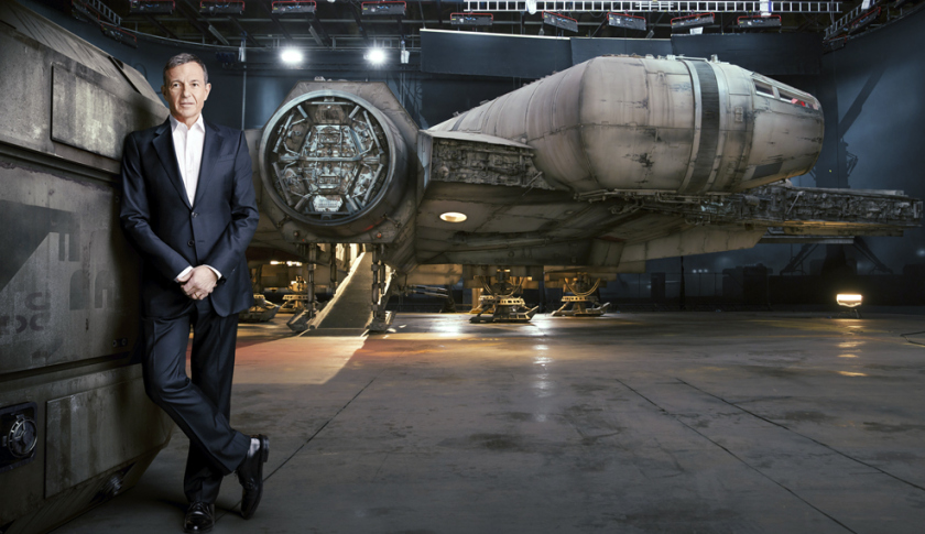 Bob Iger and the Millennium Falcon - Photo taken for Fortune Magazine