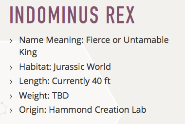 Indominous Rex Facts
