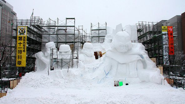 Snow Star Wars