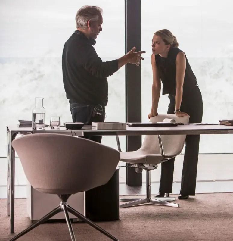James Bond Spectre Director Sam Mendes and Lea Seydoux