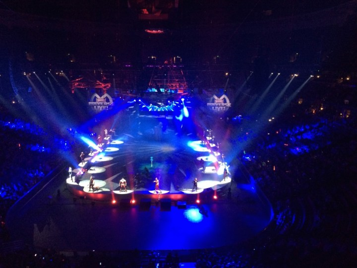 The heroes of the Marvel Universe Live! arena show