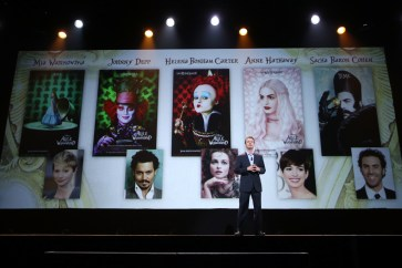 """ANAHEIM, CA - AUGUST 15: President of Walt Disney Studios Motion Picture Production Sean Bailey took part today in """"Worlds, Galaxies, and Universes: Live Action at The Walt Disney Studios"""" presentation at Disney's D23 EXPO 2015 in Anaheim, Calif. ALICE THROUGH THE LOOKING GLASS will be released in U.S. theaters on May 27, 2016. (Photo by Jesse Grant/Getty Images for Disney) *** Local Caption *** Sean Bailey"""