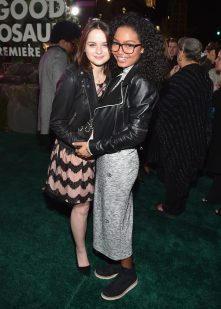 HOLLYWOOD, CA - NOVEMBER 17: Actresses Joey King (L) and Actress Yara Shahidi attend the World Premiere Of Disney-Pixar's THE GOOD DINOSAUR at the El Capitan Theatre on November 17, 2015 in Hollywood, California. (Photo by Alberto E. Rodriguez/Getty Images for Disney) *** Local Caption *** Joey King; Yara Shahidi
