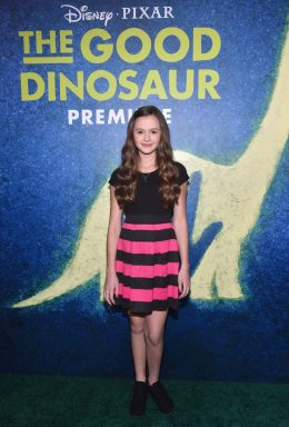 HOLLYWOOD, CA - NOVEMBER 17: Actress Olivia Sanabia attends the World Premiere Of Disney-Pixar's THE GOOD DINOSAUR at the El Capitan Theatre on November 17, 2015 in Hollywood, California. (Photo by Alberto E. Rodriguez/Getty Images for Disney) *** Local Caption *** Olivia Sanabia