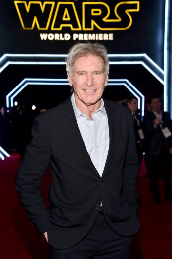 HOLLYWOOD, CA - DECEMBER 14: Actor Harrison Ford attends the World Premiere of ?Star Wars: The Force Awakens? at the Dolby, El Capitan, and TCL Theatres on December 14, 2015 in Hollywood, California. (Photo by Alberto E. Rodriguez/Getty Images for Disney) *** Local Caption *** Harrison Ford