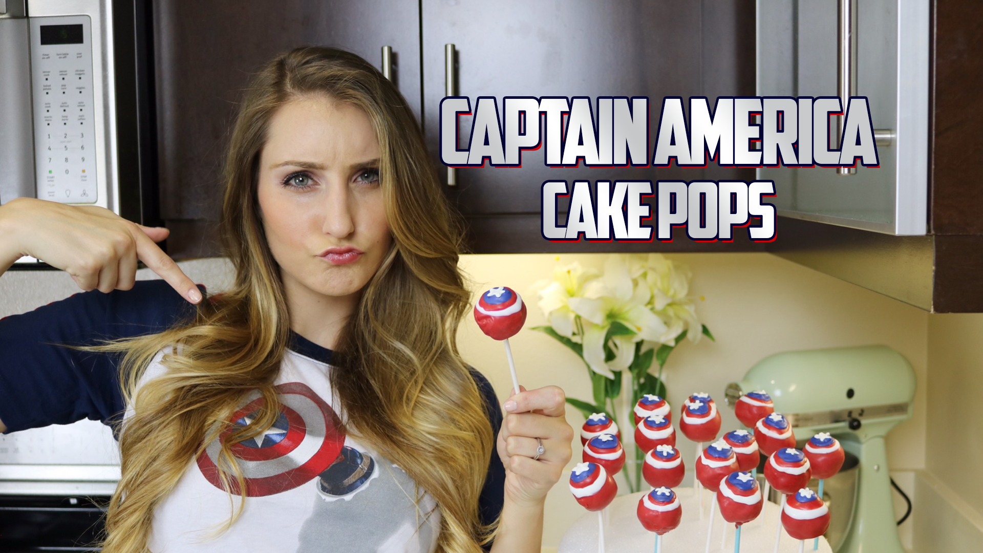 Captain America - Cake Pops