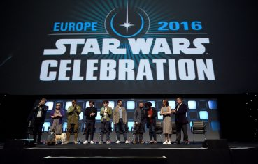 LONDON, ENGLAND - JULY 17: (L-R) Mark Hamill, Carrie Fisher, John Boyega, Alden Ehrenreich, Phil Lord, Chris Miller, Rian Johnson, Kiri Hart, Kathleen Kennedy and Pablo Hidalgo on stage during Future Directors Panel at the Star Wars Celebration 2016 at ExCel on July 17, 2016 in London, England. (Photo by Ben A. Pruchnie/Getty Images for Walt Disney Studios) *** Local Caption *** Mark Hamill; Carrie Fisher; John Boyega; Alden Ehrenreich; Phil Lord; Chris Miller; Rian Johnson; Kiri Hart; Kathleen Kennedy; Pablo Hidalgo