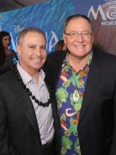 """HOLLYWOOD, CA - NOVEMBER 14: Walt Disney Studios President Alan Bergman (L) and executive producer John Lasseter attend The World Premiere of Disney's """"MOANA"""" at the El Capitan Theatre on Monday, November 14, 2016 in Hollywood, CA. (Photo by Jesse Grant/Getty Images for Disney) *** Local Caption *** Alan Bergman; John Lasseter"""