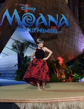 "HOLLYWOOD, CA - NOVEMBER 14: Actress Auli'i Cravalho performs onstage at The World Premiere of Disney's ""MOANA"" at the El Capitan Theatre on Monday, November 14, 2016 in Hollywood, CA. (Photo by Alberto E. Rodriguez/Getty Images for Disney) *** Local Caption *** Auli'i Cravalho"