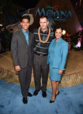 """HOLLYWOOD, CA - NOVEMBER 14: Executive Vice President & Chief Commercial Officer of Hawaiian Airlines Peter R. Ingram (C) and guests attend The World Premiere of Disney's """"MOANA"""" at the El Capitan Theatre on Monday, November 14, 2016 in Hollywood, CA. (Photo by Alberto E. Rodriguez/Getty Images for Disney) *** Local Caption *** Peter R. Ingram"""