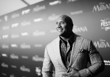 """HOLLYWOOD, CA - NOVEMBER 14: (EDITORS NOTE: Image has been shot in black and white. Color version not available.) Actor Dwayne Johnson attends The World Premiere of Disney's """"MOANA"""" at the El Capitan Theatre on Monday, November 14, 2016 in Hollywood, CA. (Photo by Charley Gallay/Getty Images for Disney) *** Local Caption *** Dwayne Johnson"""