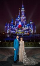 Dan Stevens and Emma Watson at the Shanghai Disney Resort for Beauty and the Beast.