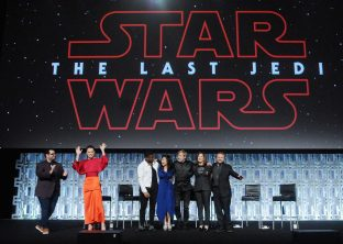 ORLANDO, FL - APRIL 14: Josh Gad, Daisy Ridley, Kelly Marie Tran, Mark Hamill, Katheen Kennedy and Rian Johnson attend the STAR WARS: THE LAST JEDI PANEL during the 2017 STAR WARS CELEBRATION at Orange County Convention Center on April 14, 2017 in Orlando, Florida. (Photo by Gerardo Mora/Getty Images for Disney) *** Local Caption *** Josh Gad, Daisy Ridley, Kelly Marie Tran, Mark Hamill, Katheen Kennedy, Rian Johnson